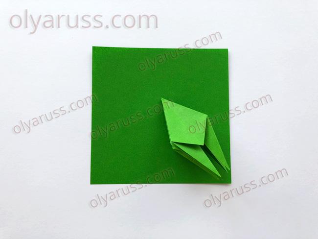Лягушка - базовая форма оригами