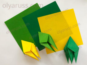 Лягушка из бумаги | Базовая форма оригами