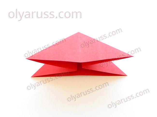 Двойной Треугольник - базовая форма оригами