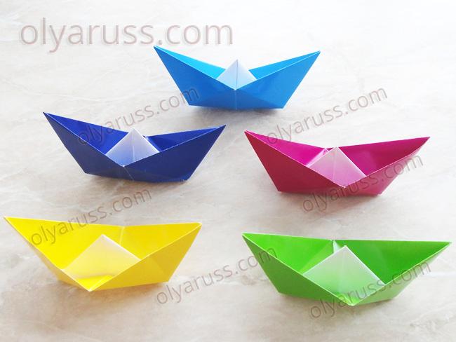 Кораблик оригами - как сделать Кораблик из бумаги