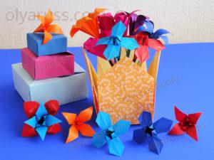 Коробочка оригами | Как сделать Коробку с крышкой из бумаги