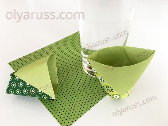 Стакан оригами - как сделать Бумажный Стаканчик своими руками
