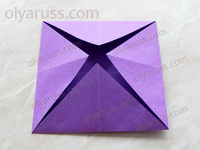 Блинчик - базовая форма оригами