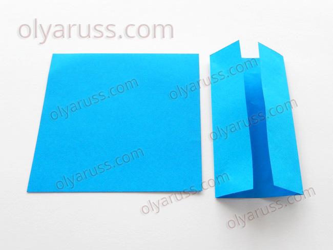 Дверь - базовая форма оригами