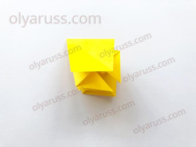 Бутон - базовая форма оригами
