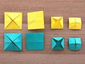 Превращение базовых форм | Чудеса в оригами