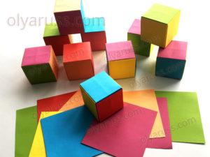 Кубик оригами | Кубики из бумаги своими руками