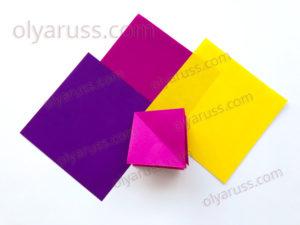 Двойной квадрат | Базовая форма оригами