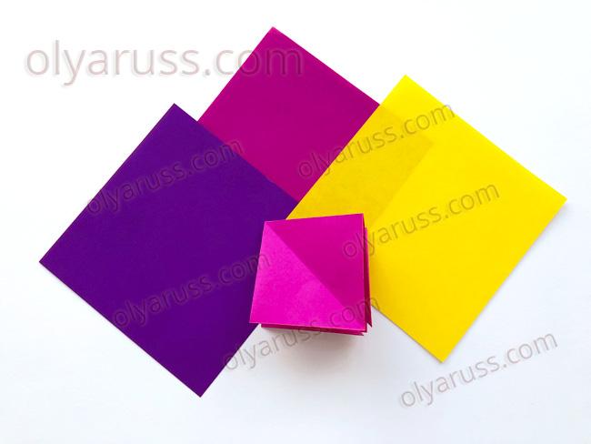 Двойной Квадрат - базовая форма оригами