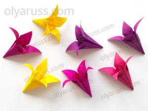 Цветок Ирис оригами | Как сделать Цветы из бумаги