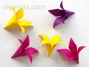 Цветы Ирисы из бумаги | Бумажный цветок оригами