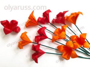 Лилия оригами | Как сделать Цветы Лилии из бумаги