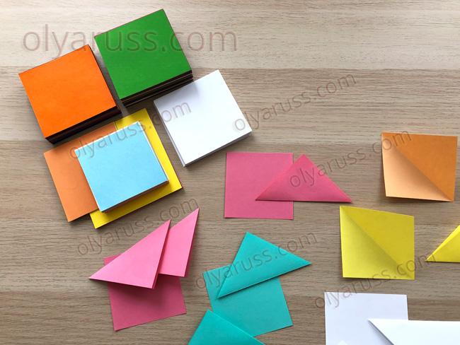 Бумага для оригами - базовые формы оригами
