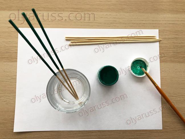 Стебель для цветов из бамбуковой палочки