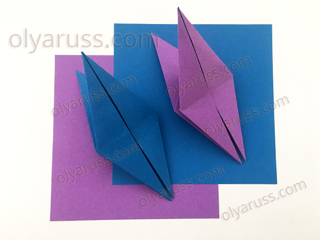 Птица - базовая форма оригами