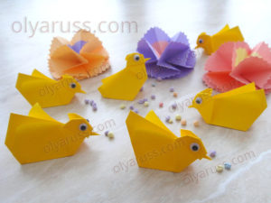 Цыпленок оригами | Как сделать Цыпленка из бумаги