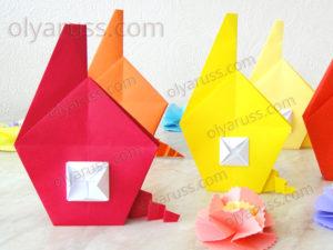 Домик оригами | Как сделать Дом из бумаги
