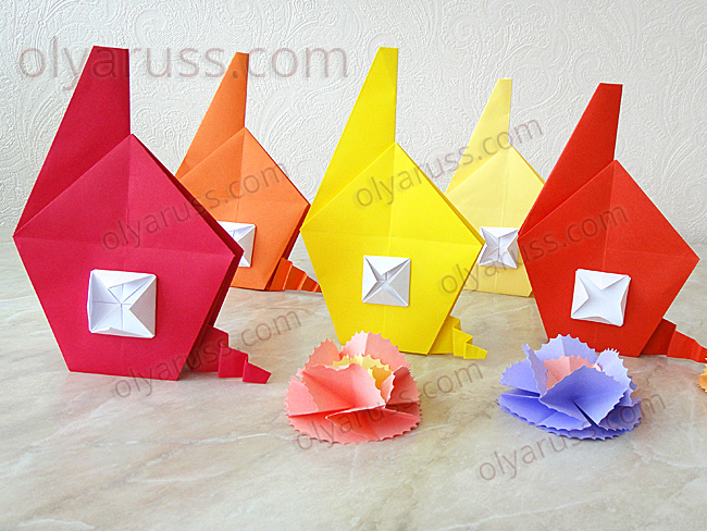 Домик оригами - как сделать Дом из бумаги