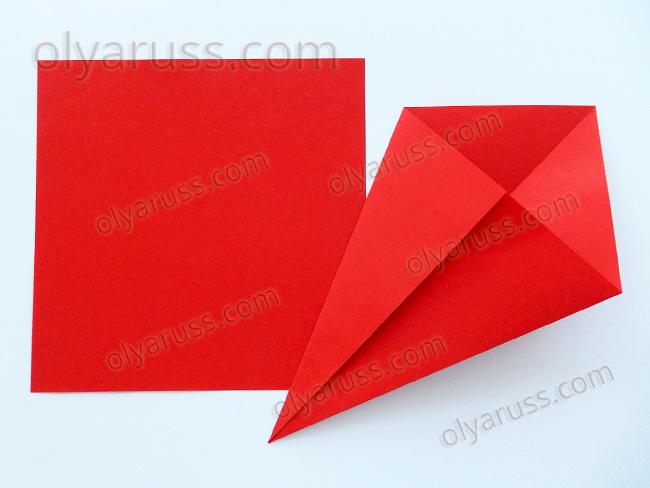 Воздушный Змей - базовая форма оригами