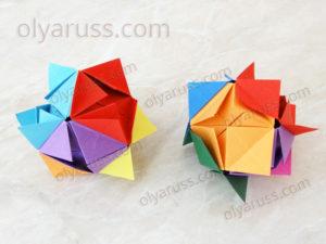 Как сделать Кусудаму из бумаги | Оригами Кусудама