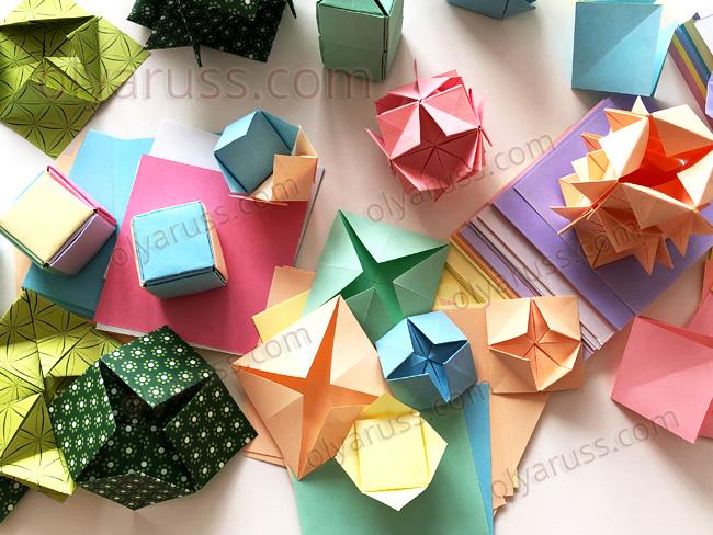 Модуль оригами из базовой формы блинчик